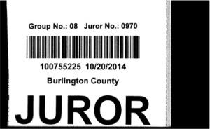 jury card