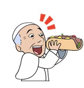 pope cheesesteak emoji
