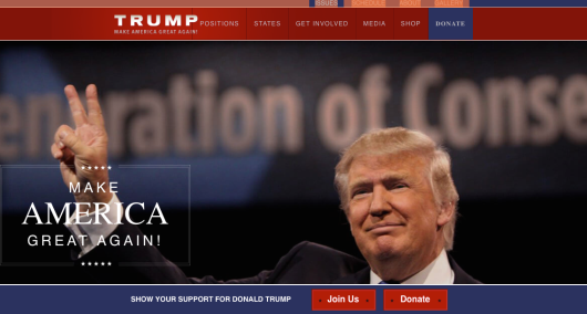 trump web site
