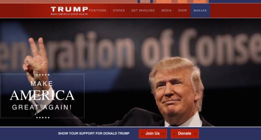 trump web site