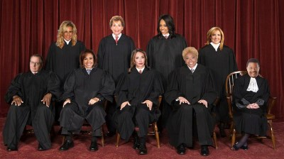 Justices (TOP) Perez, Judy, Faith, Milian,(BOTTOM) Young, Pirro, Lopez, Karen, and Mathis. Missing: Chief Justice Diana Ross.