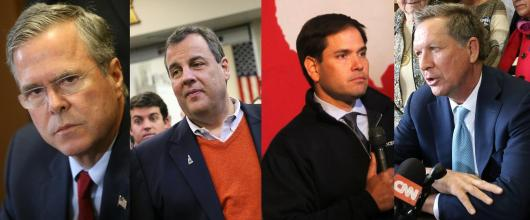 Comrades Bush, Christie, Rubio, and Kasich