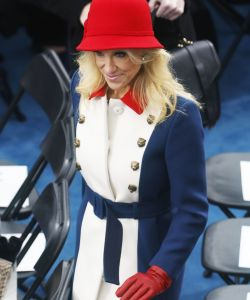 Suggesting that Conway was dressed this way for the inauguration because she was going directly to a high school band competition immediately afterward would be an example of fake news - or would it?